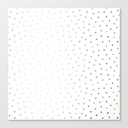 Rosegold Dots II Canvas Print