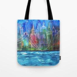 New York Skyline Drawing Tote Bag