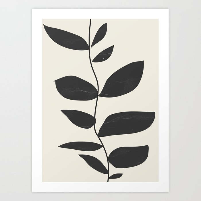 minimal plant Art Print