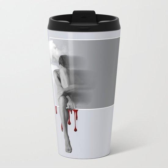 male nude art  Metal Travel Mug