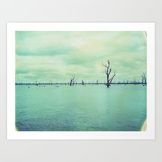 Lake Mulwala Polaroid Art Print
