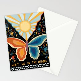 Meet me in the middle Stationery Cards
