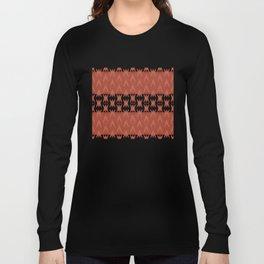 """Dark Coral (Pattern) Tribal"" Long Sleeve T-shirt"
