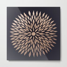 Rose Gold Flower Metal Print
