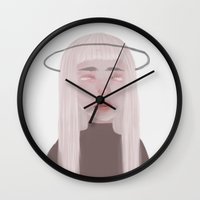 saturn Wall Clocks featuring Saturn by Wallabee