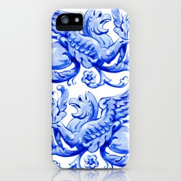 ultramarine griffin in watercolor iPhone Case