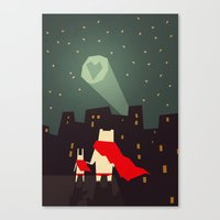 yetiland Canvas Prints featuring The city needs love by Yetiland