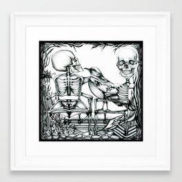 Sit Long Framed Art Print