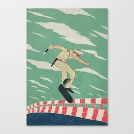 [ LET YOURSELF GO! ] The policeman Canvas Print