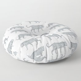 Leopards on the Prowl Pattern in Pencil Floor Pillow