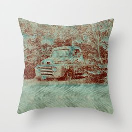 1950 Ford F100- Textured Rust Throw Pillow