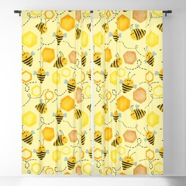 Happy Little Bees  Blackout Curtain