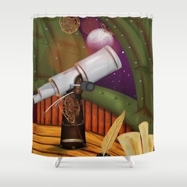 Telescope Observatory  Shower Curtain