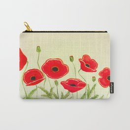 Watercolor poppies Carry-All Pouch