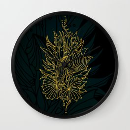Nested in Gold Wall Clock