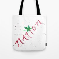 ohio state Tote Bags featuring Ohio State Football by StephsPrettyLilPage