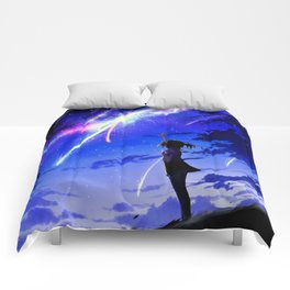 "Kimi No Na Wa ""Your Name"" v1 Comforters"