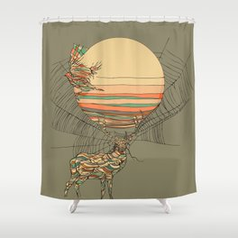 The Haunting Idle Shower Curtain