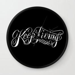 Keep Living Script logo Wall Clock