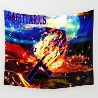 sagittarius Wall Tapestries featuring Sagittarius by LBH Dezines