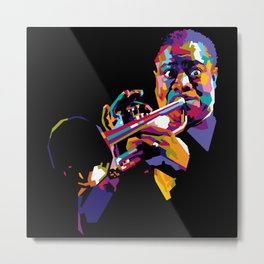 Satchmo in WPAP Metal Print