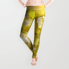 Wild poppy abstract-2 Leggings