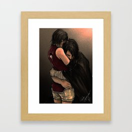 You with the sad eyes Framed Art Print