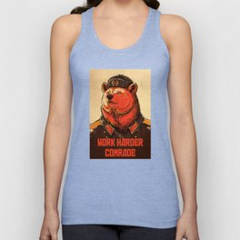 Work Harder, Comrade! Unisex Tank Top