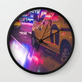 Taxi NYC Life (Color) Wall Clock
