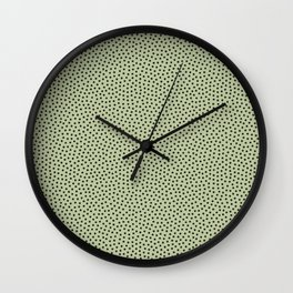 Little Dots Soft Green Wall Clock