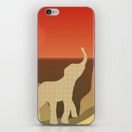 Underwater Elephant Scene Design iPhone Skin