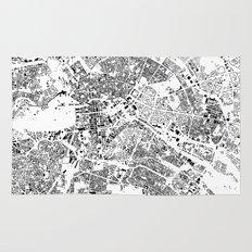 Berlin Map Schwarzplan Only Buildings Rug