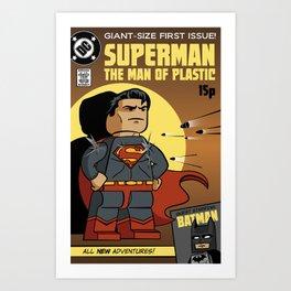Lego Superman Art Print