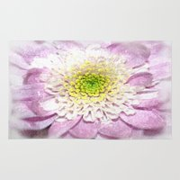 water colour Area & Throw Rugs featuring Flower Head water colour by Brian Raggatt