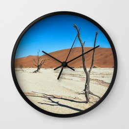Dead Trees and Dunes Wall Clock