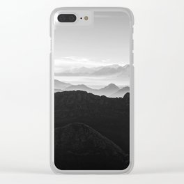 Mountains in the morning mist Clear iPhone Case