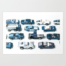 Its A Parking Lot Out There... Blue Art Print