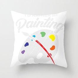 Painter Artist Brushes Mixed Pallet Gift Throw Pillow