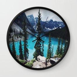 Lake Moraine Alberta Wall Clock