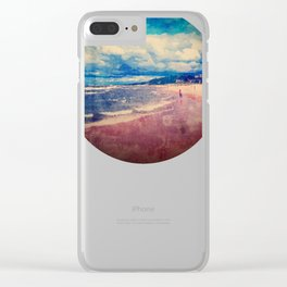 A Day At The Beach Clear iPhone Case