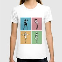 burlesque T-shirts featuring Burlesque Wars by V-GRAFIX