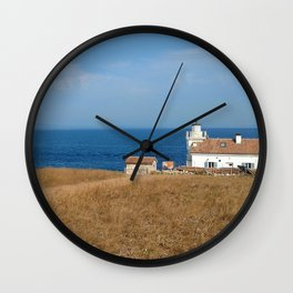beach front lighthouse medulin croatia Istria Wall Clock
