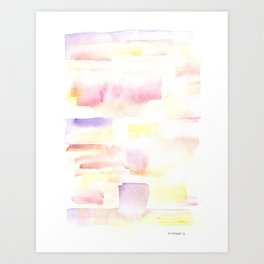 170527 Back to Basic Pastel Watercolour 22 |Modern Watercolor Art | Abstract Watercolors Art Print