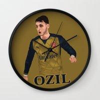 arsenal Wall Clocks featuring Mesut Özil by siddick49