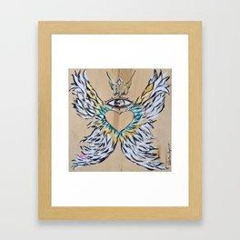 Freedom wings Framed Art Print