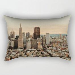 Vintage San Francisco Cityscape (Color) Rectangular Pillow