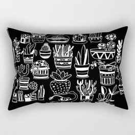 Succulent Party (Night Version) Rectangular Pillow
