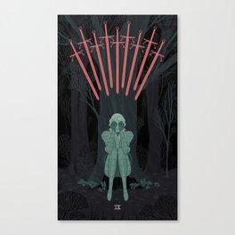 9 of Swords Canvas Print