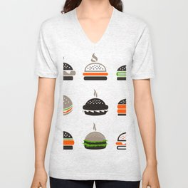 Hamburger2 Unisex V-Neck
