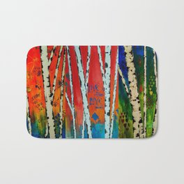 Birch Tree Stitch Bath Mat